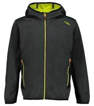 CMP Kid Jacket Fix Hood Bunda 14NG Čierna