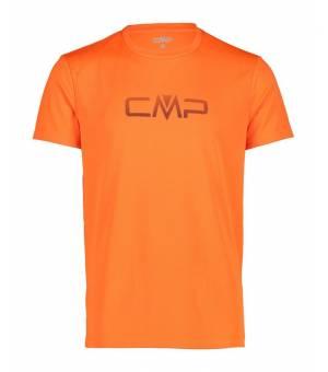 CMP Tričko s Logom CMP M Oranžové/Antracitové