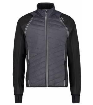 CMP Man Jacket Detachable Sleeves Mikina U423 Čierna