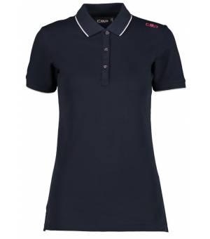 CMP Woman Polo Black Blue N950 košela modrá