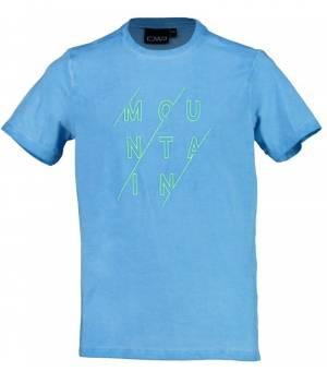 CMP Kid T-Shirt Tričko L724 Tyrkysové