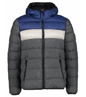 CMP Man Jacket Fix Hood Antracite Mel - Cobalto bunda