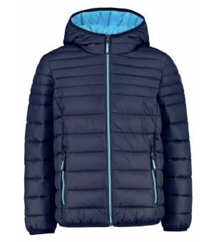 CMP Kid Jacket Fix Hood Black Blue – Azzurro bunda