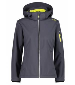 CMP Woman Jacket Zip Hood Titanio bunda