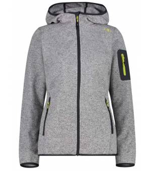 CMP Woman Jacket Fix Hood Grey Bianco mikina