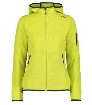 CMP Woman Jacket Fix Hood Lime mikina