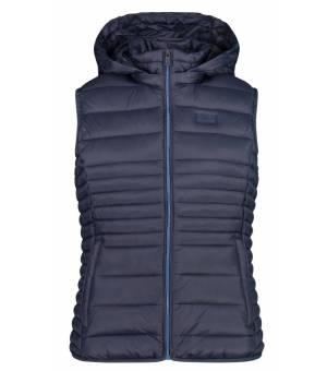 CMP Woman Vest Snaps Hood Black Blue – Sea vesta