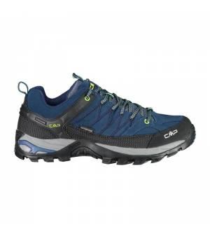 CMP Rigel Low Trekking Shoes WP Blue Ink-Yelow Fluo