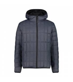 CMP Man Reverse Jacket Fix Hood Nero – Titanio bunda