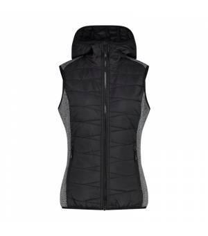 CMP Woman Vest Fix Hood Nero vesta