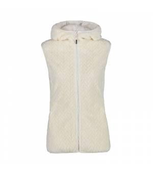 CMP Woman Vest Fix Hood Bianco Gesso vesta