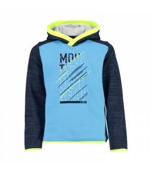 CMP Kid Sweat Fix Hood Azzuro mikina