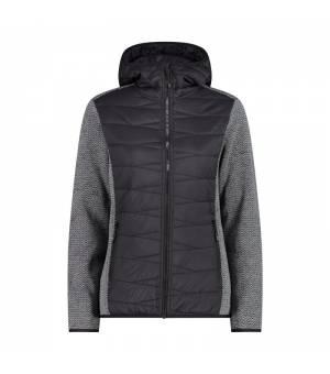 CMP Woman Jacket Fix Hood Nero mikina