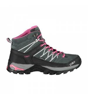 CMP Rigel Mid Wmn Trekking Shoe WP Grey – Fuxia - Ice