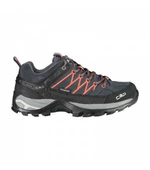 CMP Rigel Low Wmn Trekking Shoes WP Antracite Red Fluo