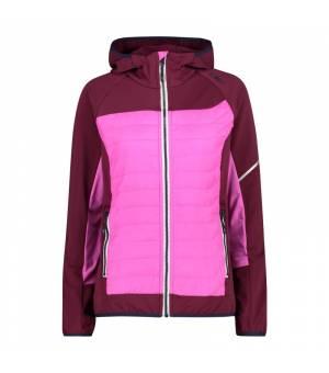 CMP Woman Jacket Fix Hood Hybrid Amaranto bunda