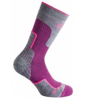 CMP Trekking Sock Wool Mid Ponožky H913 Ružové