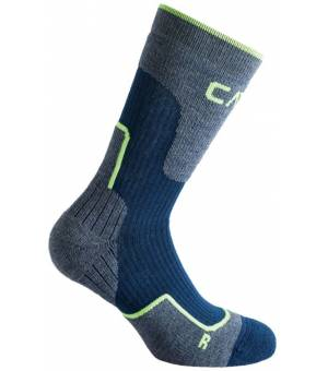 CMP Trekking Sock Wool Mid Ponožky M870 Modré