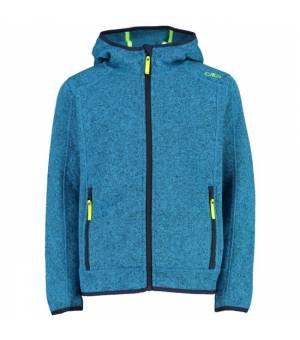 CMP Kid Jacket Fix Hood Mikina 06LH Modrá