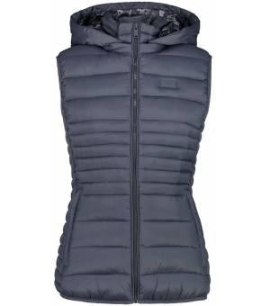 CMP Woman Vest Snaps Hood U911 Sivá