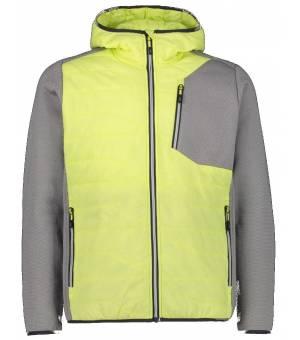 CMP Man Hybrid Jacket Fix Hood Mikina E010 Žltá
