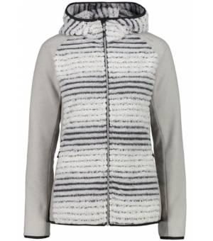 CMP Woman Jacket Fix Hood A219 Mikina Sivá