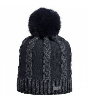 CMP Woman Knitted Hat Black Blue Čiapka
