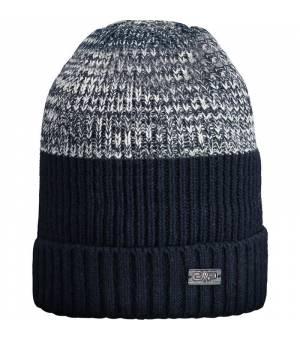 CMP Man Knitted Hat Black Blue Čiapka
