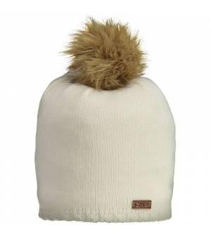 CMP Woman Knitted Hat Bianco Gesso Čiapka