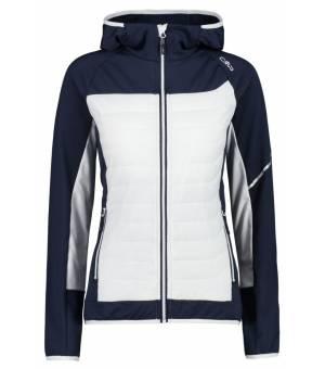 CMP Jacket Fix Hood Hybrid Woman Mikina N950 Modrá