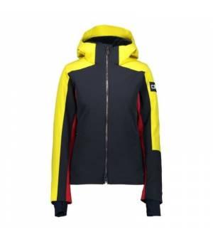 CMP Woman Jacket Zip Hood Black Blue Bunda