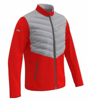 Colmar Mens Down Jacket Steel Grey-Red-Pearl Grey bunda
