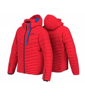 Colmar Hokkaido Men Down Ski Jacket Bright Red-Peacock-Black bunda