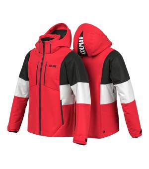 Colmar Whistler Colourblock M Ski Jacket  Bright Red - Black- White bunda
