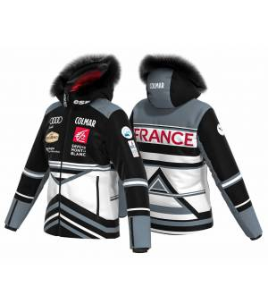 Colmar French National Team W Ski Jacket white/black/stone bunda