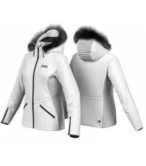 Colmar Meribel W Ski Jacket + Fur White-Silver bunda