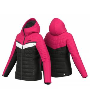 Colmar Lake Louise Ladies Ski Jacket Black-Frozen Berry-White bunda