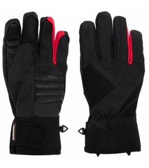 Colmar Man Ski Gloves With Protections Black Red Rukavice