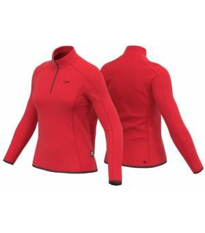 Colmar Ladies Half Zip Tech Sweatshirt Red tričko s dlhým rukávom