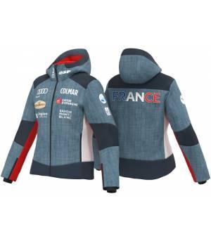 Colmar Replica Ladies Ski Jacket Medium Denim-Blue Black bunda