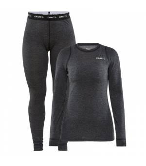 Craft Core Wool Merino W Set Black dámske funkčné termoprádlo