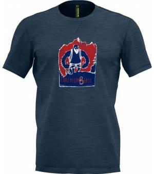 Crazy Idea Beast M T-Shirt blue tričko