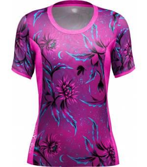 Crazy Idea Delta W T-Shirt Night Flower tričko