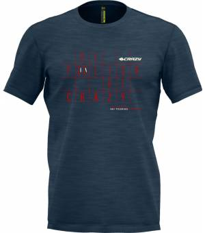 Crazy Idea Live To Climb M T-shirt Blue Red tričko