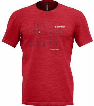 Crazy Idea Live To Climb M T-shirt Red tričko