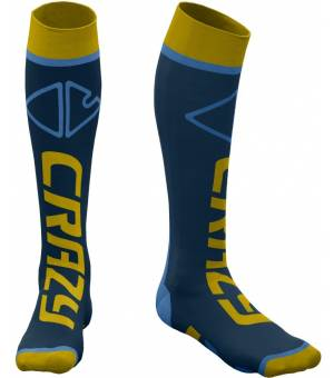 Crazy Idea Carbon Socks ocra ponožky