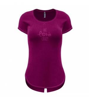 Crazy Idea Instinct W T-shirt berry tričko