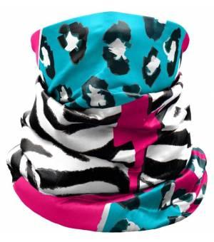 Crazy Idea Neck Gaiter Light Black Zebra nákrčník