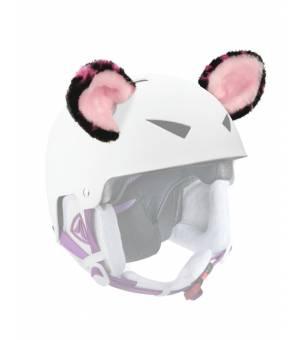 Crazy Ears Black Pink Cat uši na prilbu