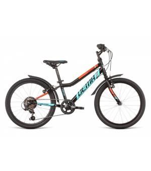 "Dema Vega 20"" 6sp Black-Blue Juniorský Bicykel 2020 Čierny"